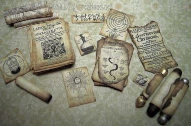 Miniature Parchments and Scrolls by DFLY847