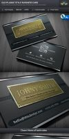 Old Style Plaque Business Card Template by Saptarang