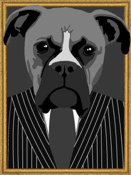 A Dog in a Suit by MsNele