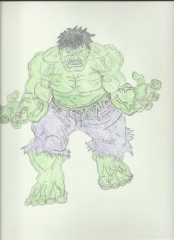 The Hulk Color First Layer WIP by thebingbang