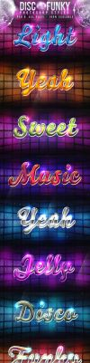 Disco Funky Photoshop Styles by KoolGfx