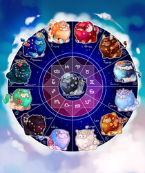 [CLOSED] Mini lions zodiac edition by miloudee