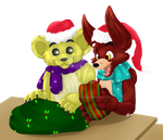 Foxy'n'Goldie Christmas by Takarti