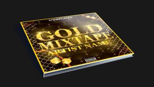 Gold Mixtape CD Cover Free PSD Template by KlarensM
