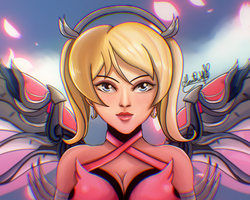 Mercy Pink - OVERWATCH by Hinata1495