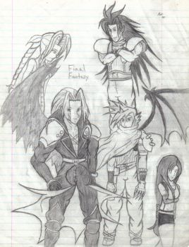 FFVIII Gang with KH style by herolebeau