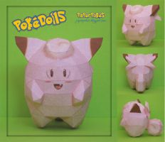 Clefairy Pokedoll Papercraft by PaperBuff