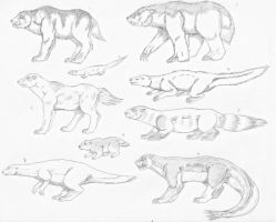 Dracoversian Mustelids by spidervenom022