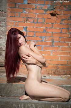 RedClo nude in the ruins 03 by Darthsandr