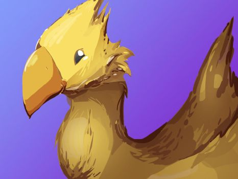 A Peculiar-looking Chocobo by SiggyMc