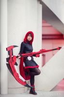 RWBY Cosplay - Ruby Rose - Stepping on my Cape by JFamily