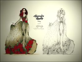 Flower Gown Design by AlexandraVeda