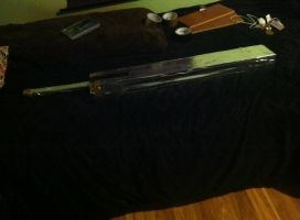 crafting a collectible Buster Sword Progress 1 by DevinjKaibaSixx