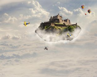 Floating Above The Clouds by GRlMGOR