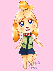 Isabelle (New Leaf) by 8BitGalaxy