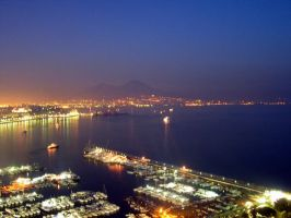 Naples, in the night by metallo