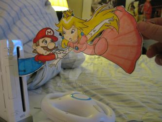 Mario and Peach :Paper Kids: by Yuffie1972
