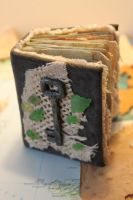 miniature book - travel journal/with maps by izibel1