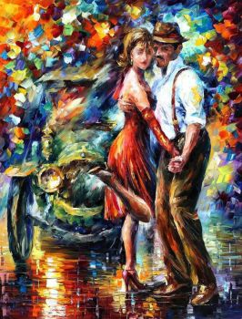 Beautiful Tango by Leonid Afremov by Leonidafremov