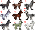 WOLF ADOPTABLES by e-merging