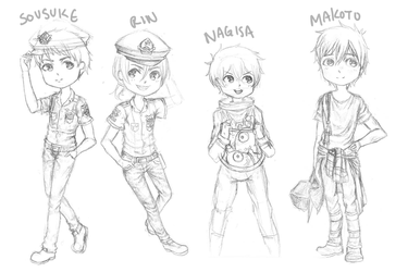 free! chibis by crowsfury
