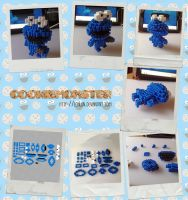 CookieMonster Perler 3D Sprite by Echilon