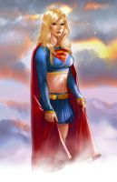 Supergirl in the clouds by mikepacker