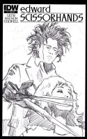 Edward Scissorhands WIP by mentaldiversions
