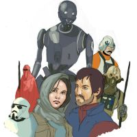Rogue one sketch! by mrAlejoX