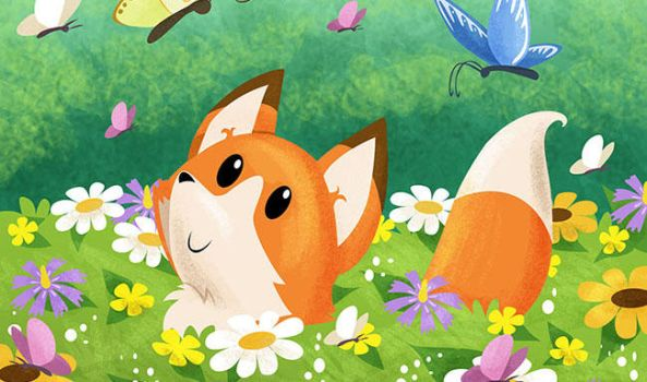 The fox and the flowers by ManueC