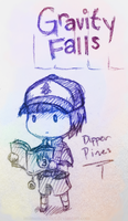 Dipper Pines (Gravity Falls) by GaliCry