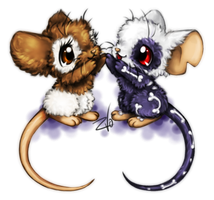 Transformice. Two mice by krikdushi