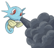 Pokemon Project - Horsea Smokescreen