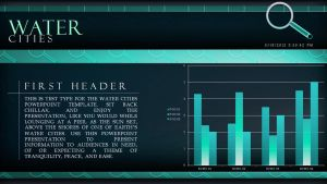 Water Cities - PowerPoint Template (Bar Chart) by CauseThought