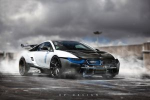 BMW i8 Blue Electro by erpydesign