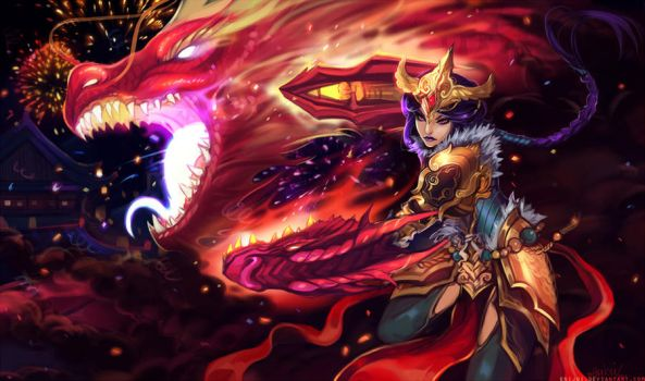 Lol - Festival dragon Shyvana by Enijoi
