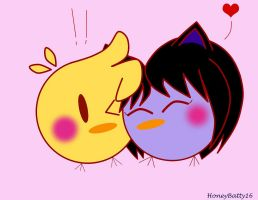 Chick!Neta and HoneyChickie by HoneyBatty16