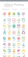 Media and Advertising Icons by BraveDesign