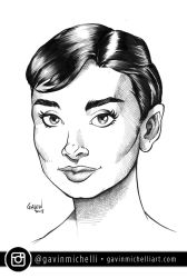 Audrey Hepburn Commission by GavinMichelli