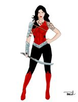 Donna Troy Redesign by tsbranch