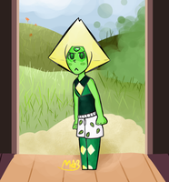Peridot being a nerd~ :3 (Has Speedpaint) by TheDrawingMorgs