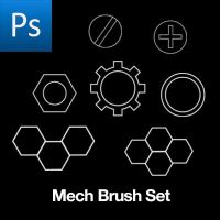 Mech detail brushes by cwdigital