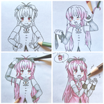 Coloring Kyoko .:Part 1:. by colorfulkitten
