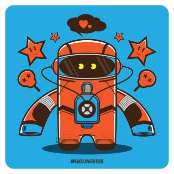Spaceman Vector by funky23