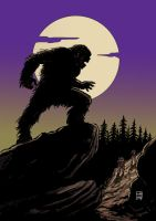 sasquatch moon by xilrion