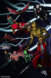 Marvel Cinematic Universe: Phase 2 by Chillguydraws