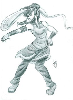 Another Korra Sketch by blindbandit5