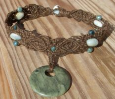 moss agate hemp necklace by HempLady4u