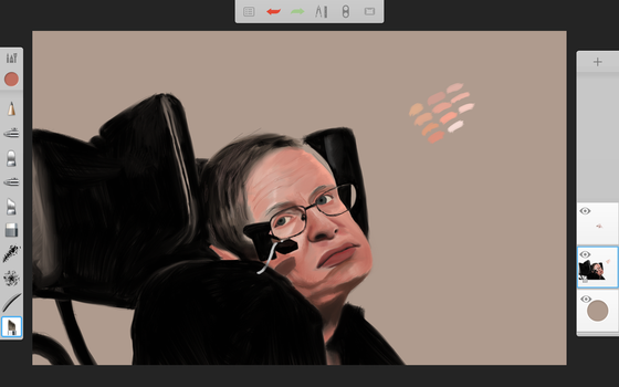 Wip Stephen Hawking by Rhyn-Art