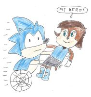 Sonic carrying Sally Acorn by dth1971
